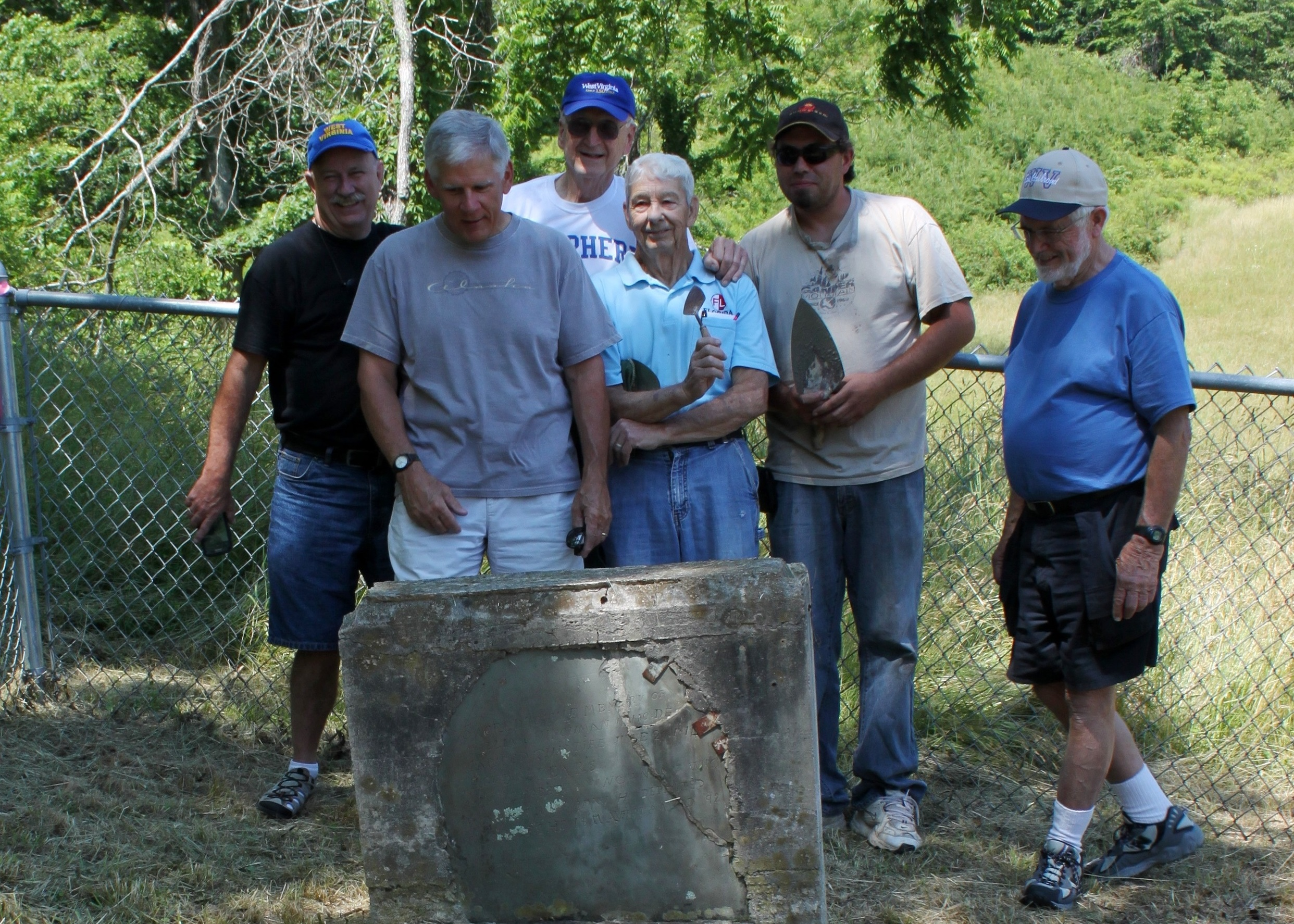 Group at William and Elizabeth Hinchman Grave