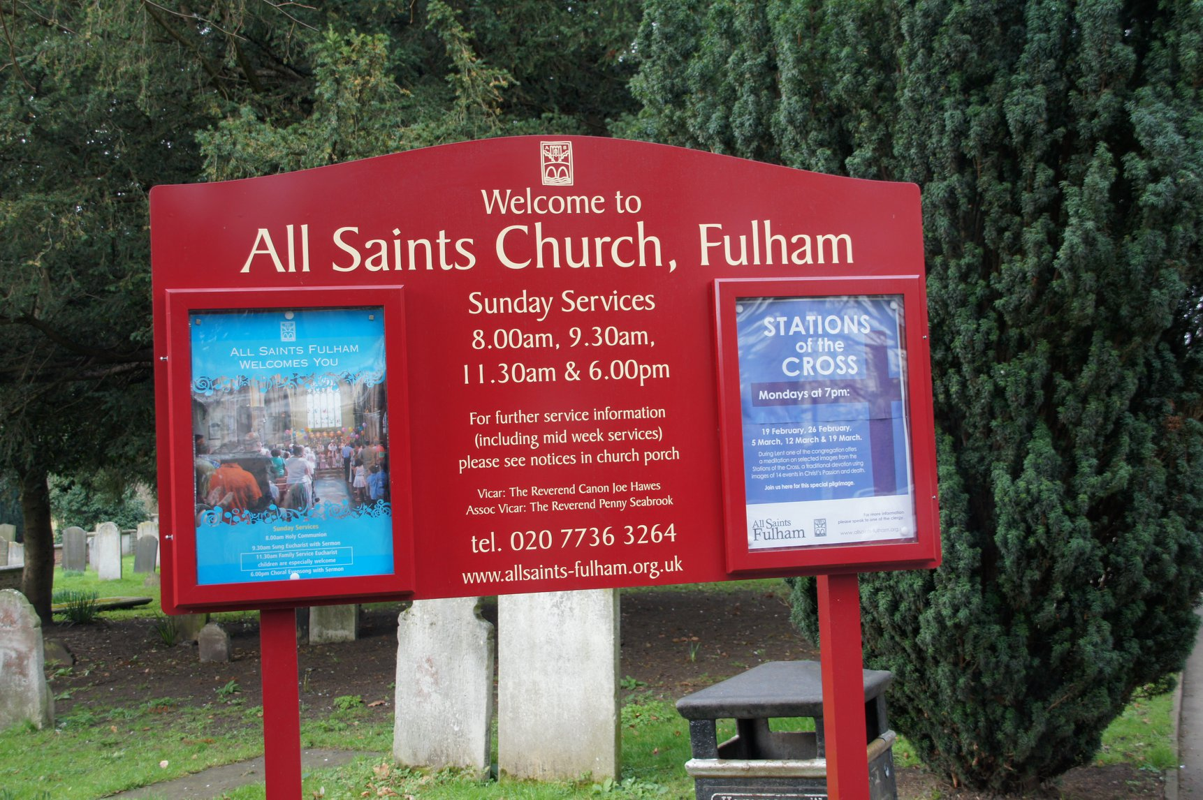 Dan Hinchman - All Saints Fulham sign