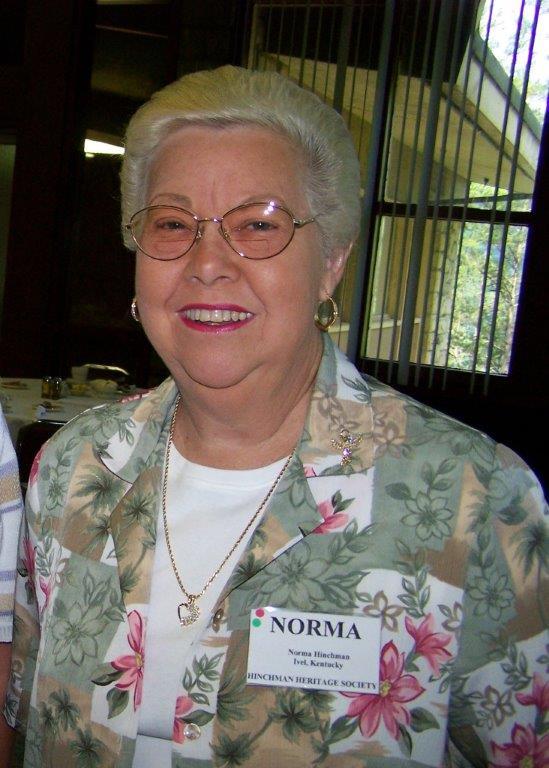 Norma Hinchman 1941-2012